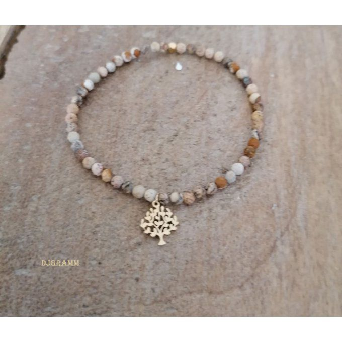 Bracelet-pierres-naturelles-marron