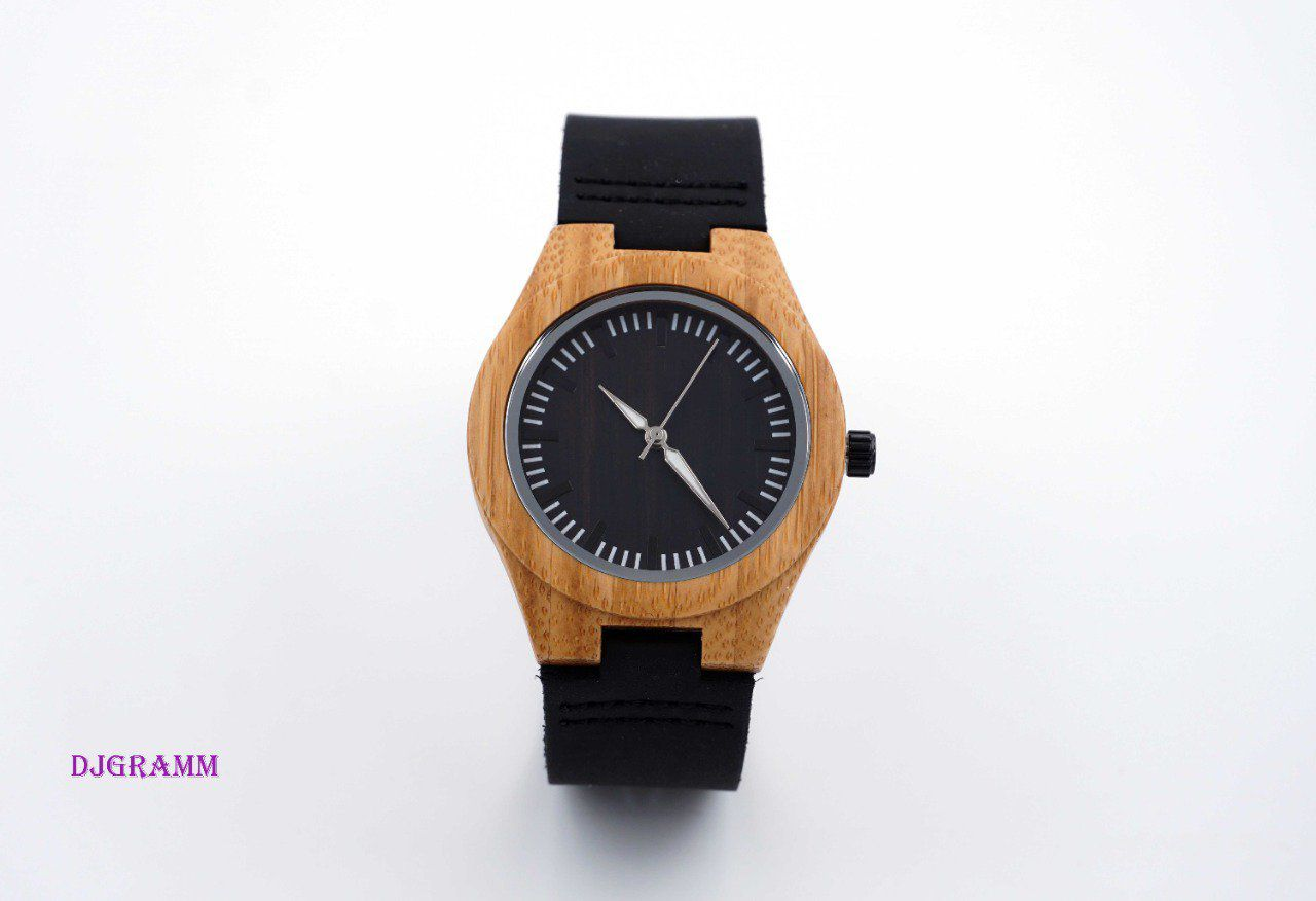 Montre en bois black medium
